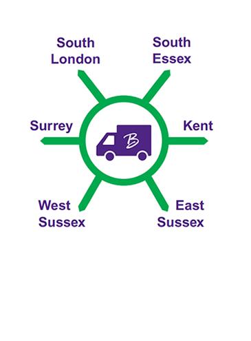 Bradleys Delivery Area Map