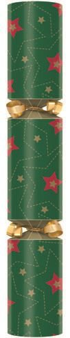 Red and Green Stars Christmas Cracker