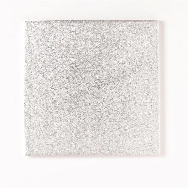 Square Cake Board - Silver