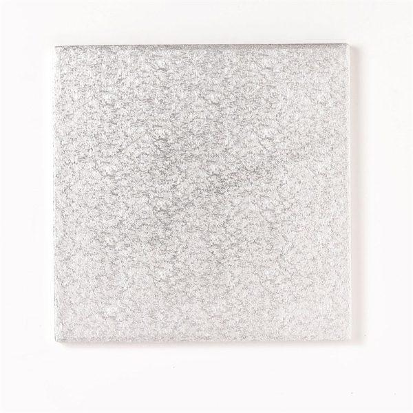 Square Silver Cake Board