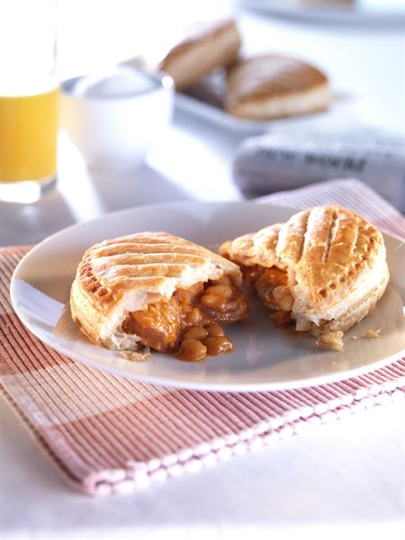 Sausage, Beans and Cheese Pasty