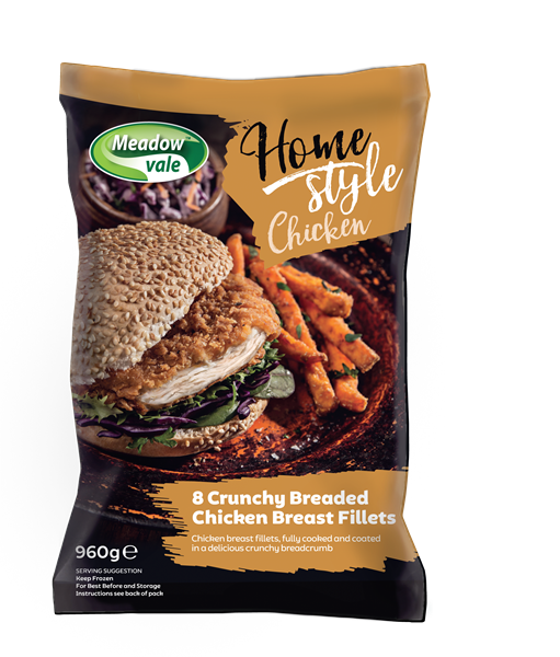 Meadow Vale Homestyle 120g Breaded Fillets [4x960g]