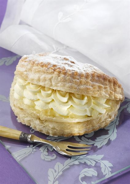Diary Cream Filled Apple Turnover