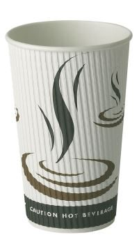 Dispo 16oz [453ml] Weave Ripple Wall Hot Drink Cup