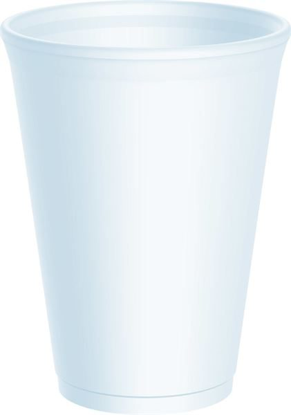12oz White Insulated Drink Cup